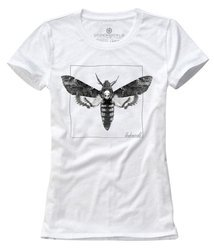 T-shirt damski UNDERWORLD Night Butterfly biały